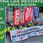 MANIFESTACION POR LA ENSEÑANZA PUBLICA SIN RECORTES