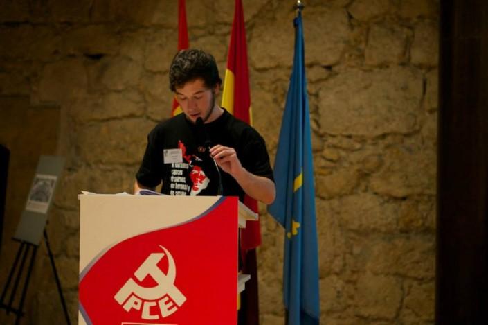 Alex Alonso Sanchis, estudiante de derecho y joven militante del PCA Oviedo