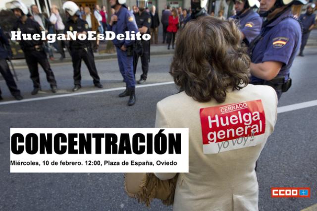 cartel Huelga no es delito