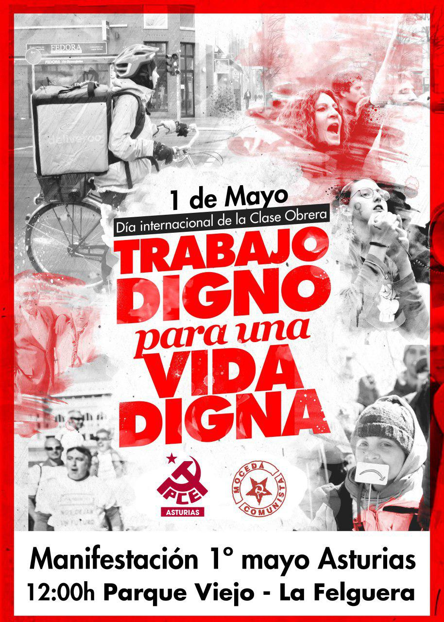 Cartel 1º mayo Asturias