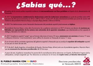 cartel2eleccionesVenezuela20M18